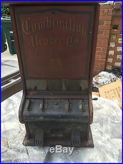 1 Cent Combination Gum, Nut, Candy Vendor Machine Dated Oct 4, 1904 Rare
