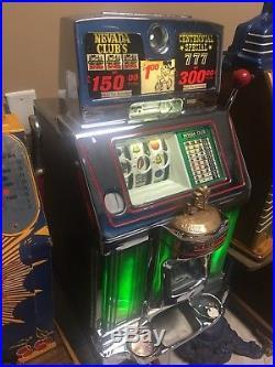 $1 Jennings DOLLAR Reno Lake Taho Nevada Club Chrome Front Slot Machine Excelle
