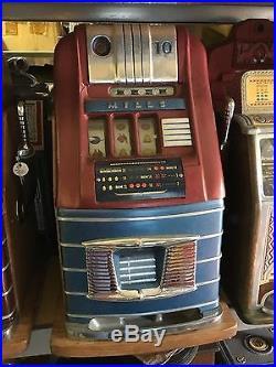 10¢ Mills Hightop Bell Slot Machine Free Shipping