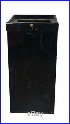 12 Antique metal mills orig slot machines Trade Stimulator Vtg base stand lock