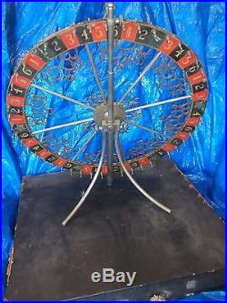 1890s Ornate Gaming Gambling Casino Wheel Pre Prohibition Carnival Poker