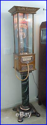 1900's Caille Hygienic Exerciser Coin-Op Penny Arcade Lung Strength Tester Works