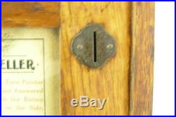 1904 Mills Novelty Co The Wizard Fortune Teller Carved Oak Case Penny Arcade
