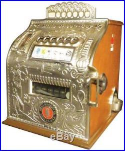 1907 Mills 5 Cent Check Boy