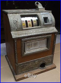 1914 Charles Fey revamp mills O K gum vendor antique nicel slot machine