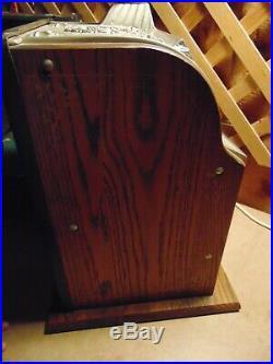 1920'S IOWA NOVELTY (MILLS) 5c SLOT MACHINE OWL MOTIF GOOSENECK