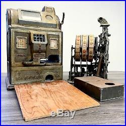 1920's O. D. Jennings & Company Antique 5 CENTS SLOT MACHINE Nickel
