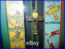1929 Madorsky Lindy Striker Penny Arcade Aviation Carnival Game Strength Tester