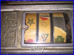 1930 Antique Cigarette Slot Machine Ball Gum game