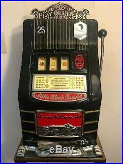 1930's 25¢ Mills Black Beauty Brooklands Car Slot Machine coin op