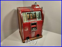 1930's Antique Slot Machine Caille Brothers 5 Cent Works