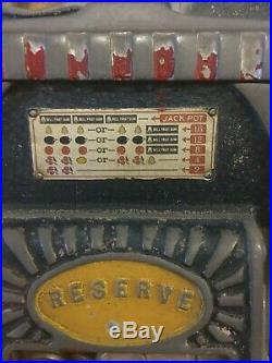 1930's Jennings 5 Cent Antique Slot machine With Mint Vendor and Fortune WORKS