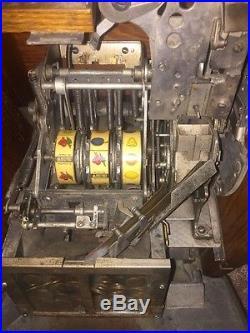 1930's MILLS ANTIQUE QT SLOT MACHINE FUNCTIONING ORIGINAL W KEYS