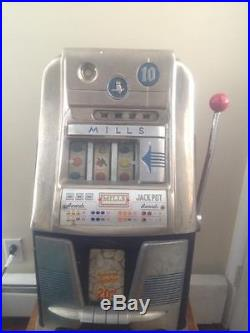 1930's Mills Antique 10 Cent Slot Machine Owl Working Local Pick-up