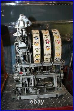 1930's Vintage Pace Bantam-Mints 5c Vendor 3 Reel Slot Machine