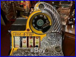 1930's WATLING American Coin Front ROL-A-TOP Slot Machine Watch Video