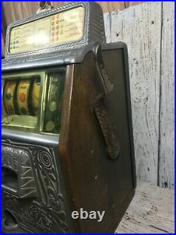 1930s 5 Cent Caille Bell Slot Machine in Great Working Condition w Key See Video