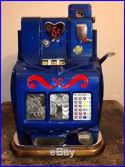 1930s 5¢ MILLS Q T Antique slot machine coin op