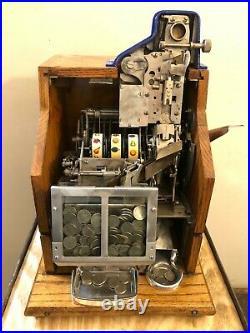 1930s MILLS 5¢ Q T Antique slot machine coin op
