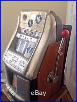 1930s Mills Antique 10 Cent Slot Machine Owl Working Local Pick-up