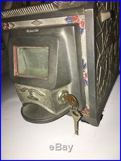 1930s Puritan Baby Jackpot Bell 5/25 cent Trade Stimulator with Rare Jackpot Front