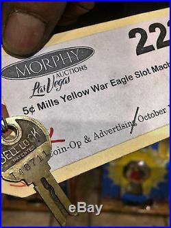 1931 Mills 5 Cent WAR EAGLE, Antique Slot Machine WATCH VIDEO