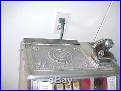 1931 Nickel Watling Baby Twin Jackpot Torch Vendor Slot Machine coin operated