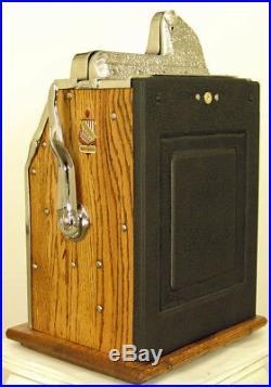 1931 ROCK-OLA / MILLS WAR EAGLE ANTIQUE 5c SLOT MACHINE VERY RARE & RESTORED