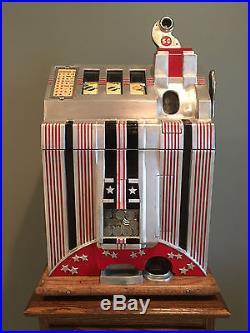 1932 Mills Skyscraper Antique Mechanical Slot Machine See Video
