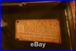1933 Bryans Automatic Works TRICKLER Penny Arcade Coin-Op Game