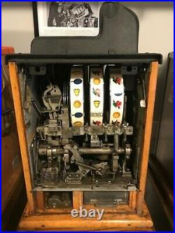 1933 Mills Castle Front Slot Machine Nickel Antique