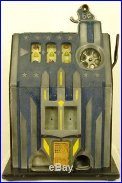 1933 Pace Comet Nickel Antique Slot Machine Great Looking Original