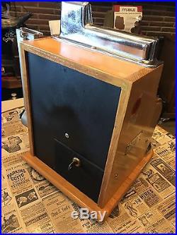 1934/47 Antique MILLS SWEET HEART 1cent 3 REEL QT SLOT MACHINE WITH GUM VENDER