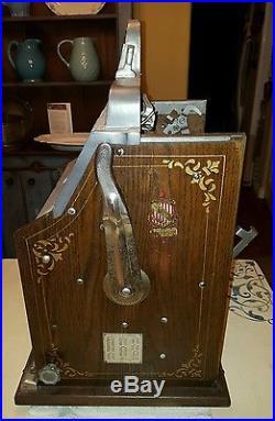1934 Mills 5 Cent Double Eagle FOK Antique Slot machine, Jackpot and Mint Vendor