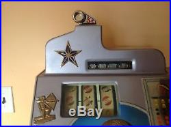 1935 Jennings One Star Chief Slot Machine with side mint Vendor