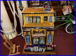 1935 WATLING Treasury Slot Machine with Mint Vendor & Stand Watch Video