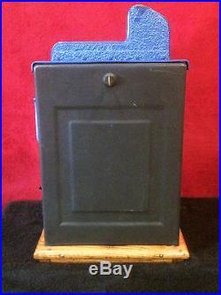 1936 Mills 10 cent Blue Front AKA Castle Front Slot Machine WATCH VIDEO