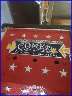 1936 Pace All Star Orange 5 Cent Slot Machine W Gold Award