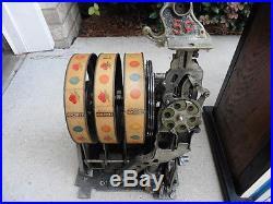 1936 Pace Comet Antique 5 Cent Coin Double Payout Slot Machine Restore Or Parts