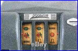 1937 Groetchen Zephyr Slot Machine Trade Stimulator And Gumball Vendor Works