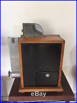 1937 MILLS 1c QT SLOT MACHINE WITH GUMBALL VENDER