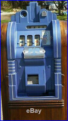 1937 MILLS EXTRAORDINARY Antique ART DECO CONSOLE or Upright Slot Machine 5 cent