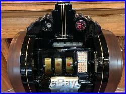 1937 MILLS Extraordinary Club Console GOLD TOKEN Award Slot Machine Watch Video