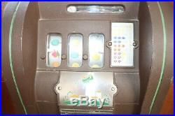 1937 Mills 25 Cent Golf Ball Vending Slot Machine Coin Operated Console Vendor