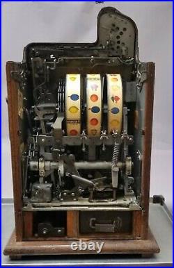 1937 Mills Novelty 5c Slot Machine Bursting Cherry