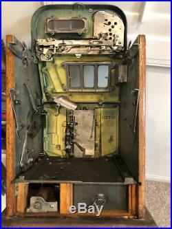 1937 Mills Novelty Co. Horse Head Bonus Slot Machine-great Condition