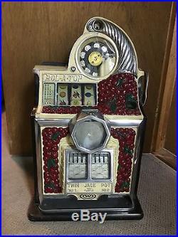 1937 WATLING 5c DIAMOND BELL ROL-A-TOP SLOT MACHINE