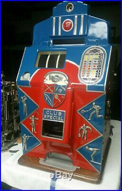 1938 Jennings 1 cent Club Special Sportsman Slot Machine Rare