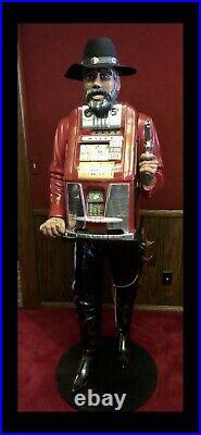 1940 Mills 5 Cent one arm bandit Cowboy Vending Slot Machine Rare