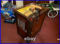 1940 PACE Console 5 Cent Slot Machine with Mint Vendor Watch Video